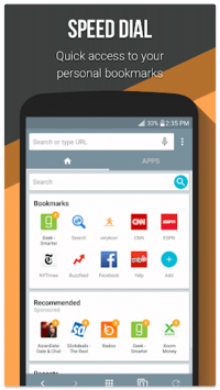 Infosonics Browser APK screenshot 1