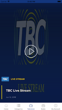 TBC Live APK screenshot 1