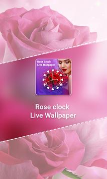 Rose Clock Live wallpaper APK screenshot 1