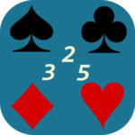 3 2 5 card game icon