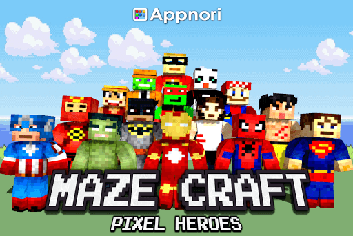 Maze Craft : Pixel Heroes APK screenshot 1