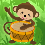 Baby musical instruments icon