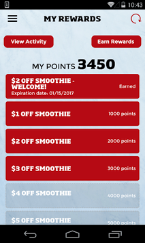 Smoothie King Healthy Rewards APK screenshot 1