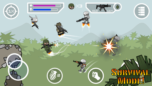 Doodle Army 2 : Mini Militia APK screenshot 1