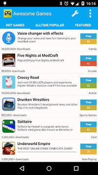 AppBrain Awesome Games APK screenshot 1
