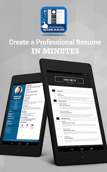 Professional Resume Maker & CV builder- PDF format APK screenshot 1