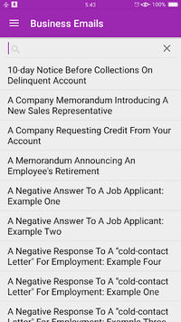 English Business Email Templates APK screenshot 1