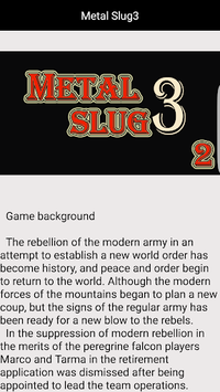 Guide (for Metal Slug 3) APK screenshot 1