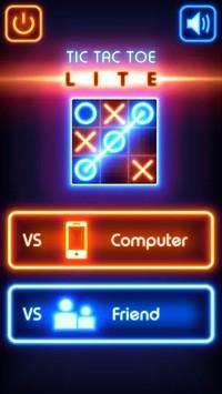 Tic Tac Toe glow - Free Puzzle Game APK screenshot 1