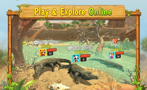 Crocodile Family Sim : Online APK screenshot 1
