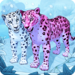 Snow Leopard Family Sim Online icon