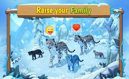 Snow Leopard Family Sim Online APK screenshot 1