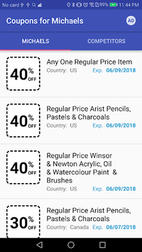 Coupons for Michaels APK screenshot 1
