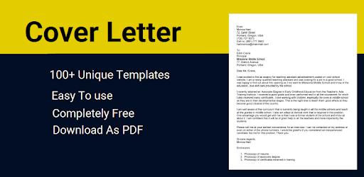 Cover Letter Maker for Resume CV Templates app pc screenshot