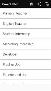 Cover Letter Maker for Resume CV Templates app APK screenshot 1