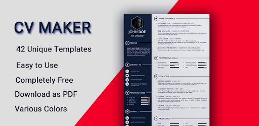 Curriculum vitae App CV Builder Free Resume Maker pc screenshot