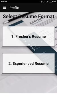 Resume builder Free CV maker templates formats app APK screenshot 1