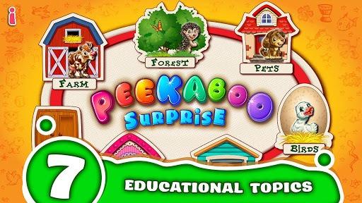 Peekaboo! Baby Smart Games for Kids! Learn animals APK screenshot 1