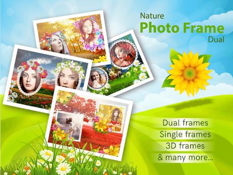 Nature Photo Frames Dual APK screenshot 1