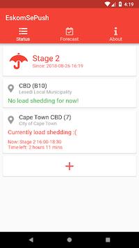 EskomSePush - Load Shedding App APK screenshot 1