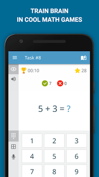 Math: mental math games, multiplication table APK screenshot 1