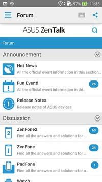 ASUS ZenTalk Community APK screenshot 1