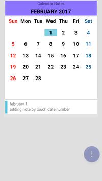 Calendar Notes APK screenshot 1