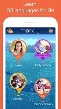 Learn 33 Languages Free - Mondly APK screenshot 1