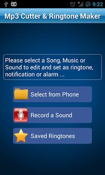 MP3 Cutter and Ringtone Maker♫ APK screenshot 1