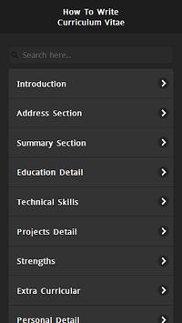 How to Write CV APK screenshot 1