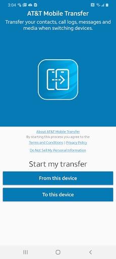 AT&T Mobile Transfer APK screenshot 1
