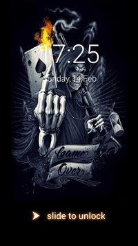 Devil Death Skull Theme – AppLock APK screenshot 1