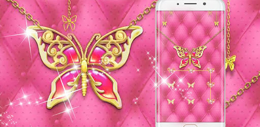 Pink Butterfly Theme – AppLock pc screenshot