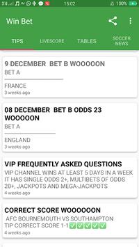 Win bet - football prediction APK screenshot 1