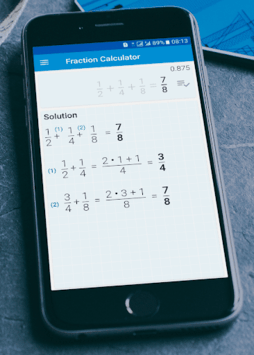 Fractions Calculator - detailed solution available APK screenshot 1