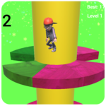 Ball Jump Tower Colors icon
