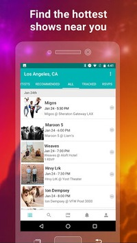 Bandsintown Concerts APK screenshot 1