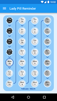 Lady Pill Reminder  ® APK screenshot 1