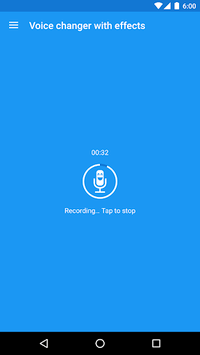 Voice changer with effects APK screenshot 1