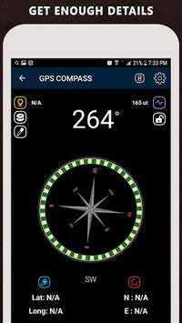 Gyro Compass App for Android: True North Direction APK screenshot 1