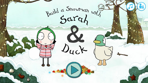 Sarah & Duck: Build a Snowman APK screenshot 1