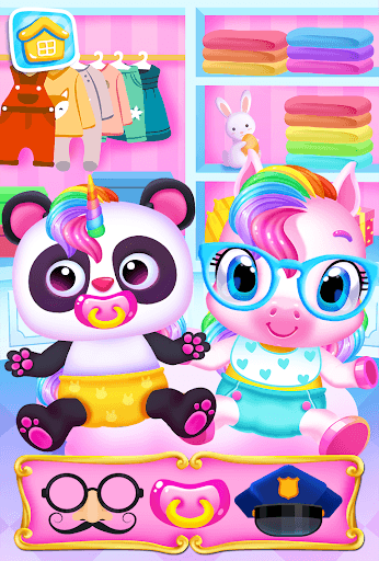 My Baby Unicorn - Magical Unicorn Pet Care Games APK screenshot 1