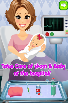 Newborn Baby Maternity Nurse - Mom & Baby Games! APK screenshot 1