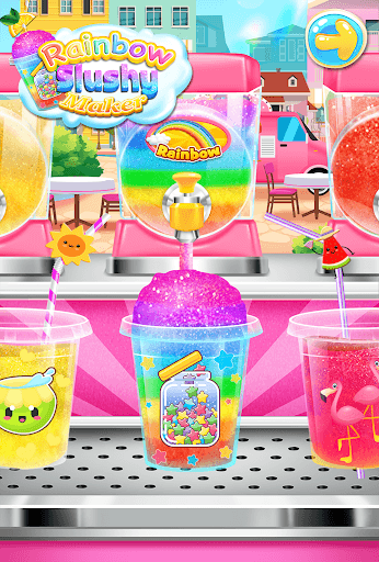 Rainbow Frozen Slushy Truck: Ice Candy Slush Maker APK screenshot 1