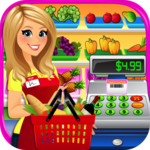 Supermarket Grocery Store Girl - Cashier Games icon