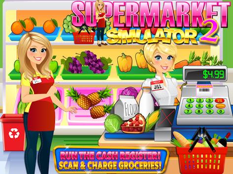 Supermarket Grocery Store Girl - Cashier Games APK screenshot 1
