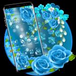 Beautiful Blue Rose. icon