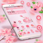 Beautiful Pink Flower Theme icon