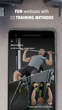 Personal Gym Workout Plan: Fitness & Bodybuilding APK screenshot 1