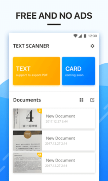 Text Scanner [OCR] Pro 2018 APK screenshot 1